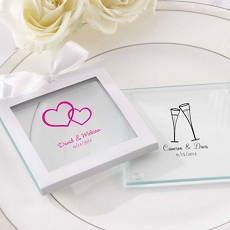 Personalized Glass Coasters  (Set of 12)-Kate Aspen