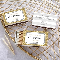 Personalized White Matchboxes - Wedding Day Designs (Set of 50)