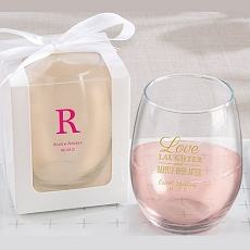 Personalized  9oz Stemless Wine Glass-Kate Aspen