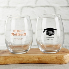 Personalized 15 oz. Stemless Wine Glass - Celebrate