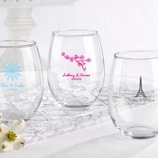 Personalized Stemless Wine Glass 15 oz. -Kate Aspen