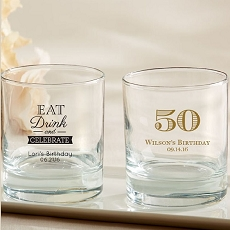 Personalized 9 oz. Rocks Glass - Celebrate
