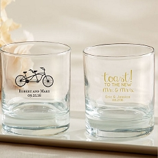 Personalized 9 oz. Rocks Glass - Wedding