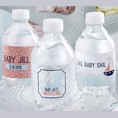 Personalized Water Bottle Labels - Nautical Baby-Kate Aspen