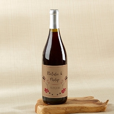 Personalized Wine Bottle Labels - Fall