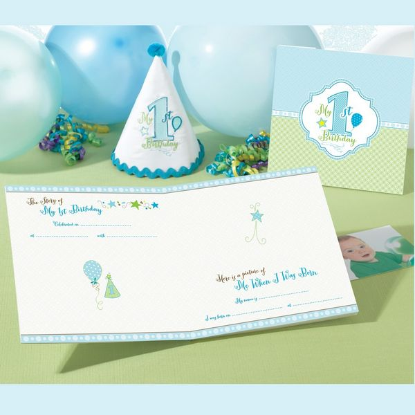 1st Birthday Memory Book-Blue