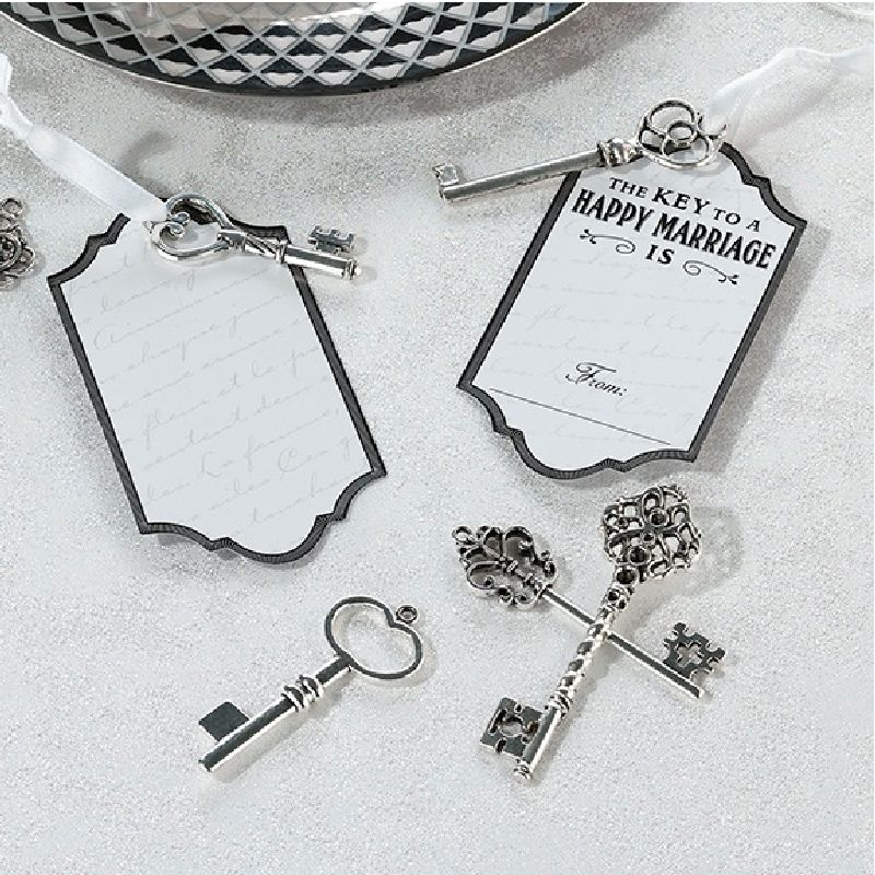 Lillian Rose 24 Vintage Silver Key Tags
