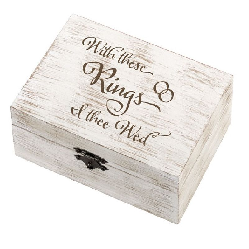 Lillian Rose Rustic I Thee Wed Ring and Vow Box