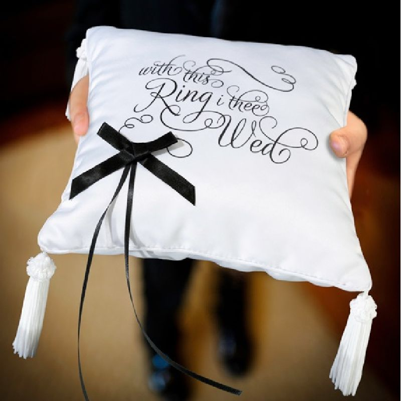 Lillian Rose I Thee Wed Ring Bearer Pillow
