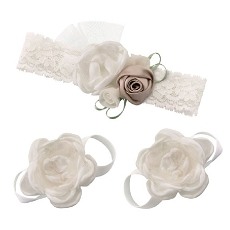 Lillian Rose Ivory Baby Headband and Barefoot Sandals