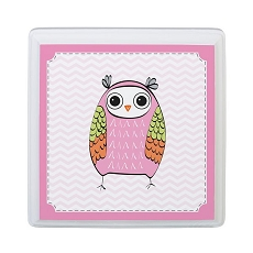 Pink Owl Sm Square Sign