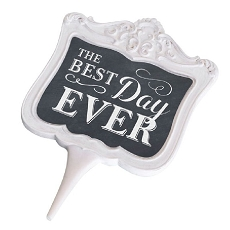 Lillian Rose Chalkboard Best Day Ever Cake Topper