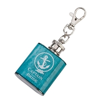 Lillian Rose Captain Bride Aqua Mini Flask