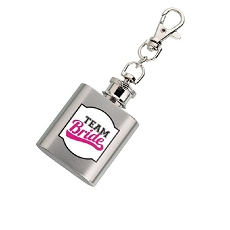 Lillian Rose Team Bride Silver Mini Flask
