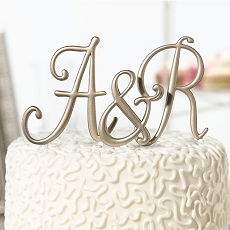 Gold Monogram Letters and Numbers