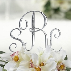 Lillian Rose Silver Finish Monogram with Rhinestones