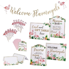 Lillian Rose Flamingo Theme Bridal Shower Decor Set