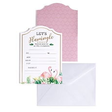 Lillian Rose Flamingo Theme Bridal Shower Invitation Set of 24
