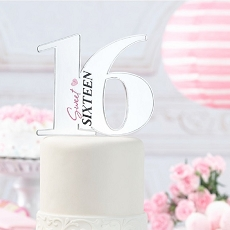 Lillian Rose Sweet Sixteen Party Cake Topper