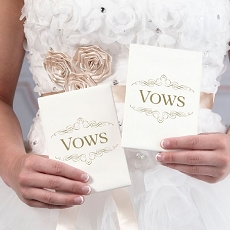 Lillian Rose Set of 2 Ivory Satin Vows Books
