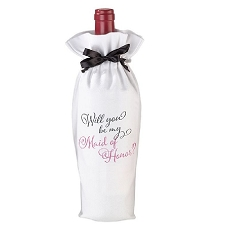 Lillian Rose Will You Be My Maid Of Honor Wine Bag