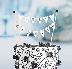Lillian Rose Just Married Cake Topper Bunting