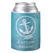Lillian Rose Coastal Captain Groom Can Cozy