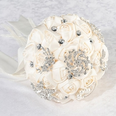 Lillian Rose Ivory Crystal Flower Wedding Bouquet