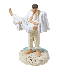Beach Wedding Figurine-Cauc
