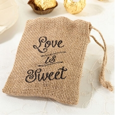 Lillian Rose Set of 4 Rustic Burlap Favor Bags