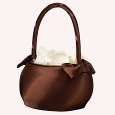 Brown Satin Wedding Basket
