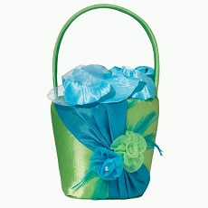 Blue/Green Flower Basket