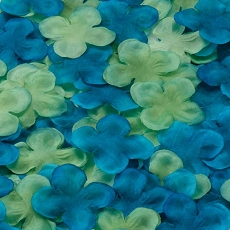 Flower Petals -Blue/Green