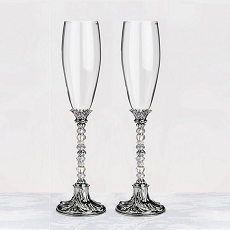 Beaded Glasses-Silver