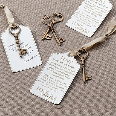 Lillian Rose 24 Bronze Christian Guest Signing Key Tags