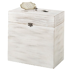 Lillian Rose White Wood Key Card Box