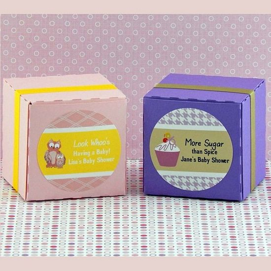 Personalized Girl Baby Shower Round Favor Labels (Set of 20)
