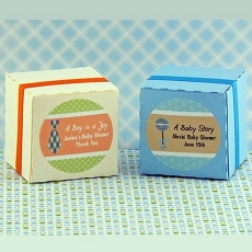 Personalized Boy Baby Shower Round Favor Labels (20)