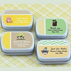Personalized Baby Shower Mint Tins (set of 15)