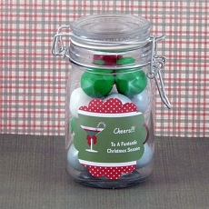Personalized Christmas Scalloped Favor Labels (Set of 12)