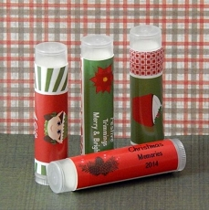 Personalized Christmas Lip Balm Favors (set of 12)