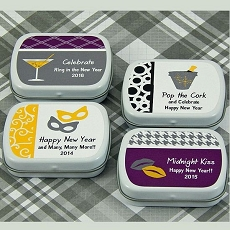 Personalized New Year's Mint Tins (set of 15)