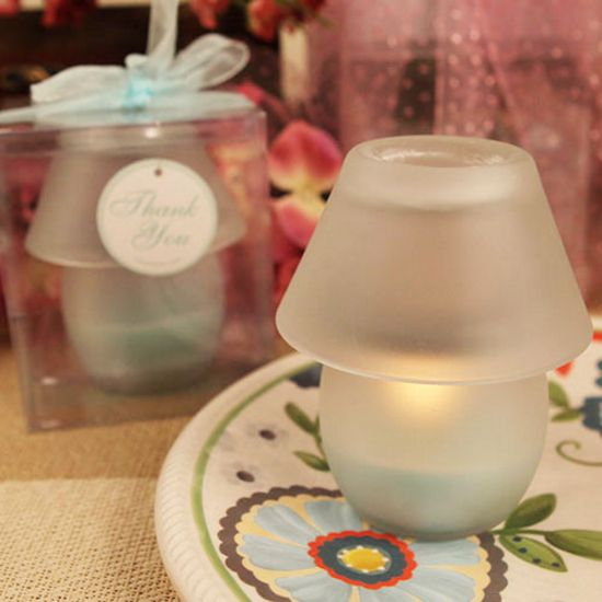 Perfect Shade Blue Candle Lamp