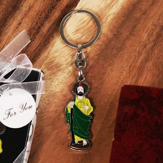 Saintly Radiance Religious Key Chain