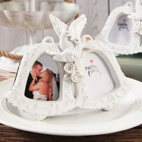 Love Birds Double Bell Photo Frame