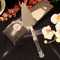 Plus De Gateau Heart Shaped Cake Server/Silver