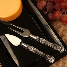 Cheese Knife Wedge And Fork Set
