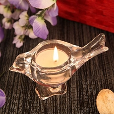 Love Bird Crystallike Glass Candle Holder