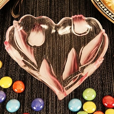 Tulip Heart Shaped Candy Dish