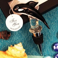 The Killer Whale Arte Murano Bottle Stopper